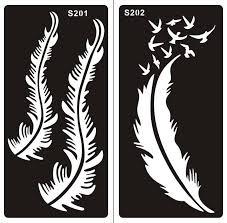 henna tattoo schablone für körper bemalung s201 s202 2 stück