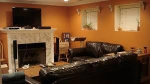walls elegance orange living room style wall paint colors design