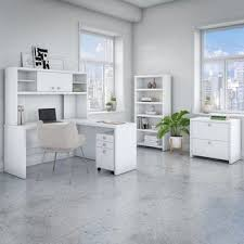 Hutch And Kathy Office By Kathy Ireland Echo L Shaped Desk With Hutch And Mobile