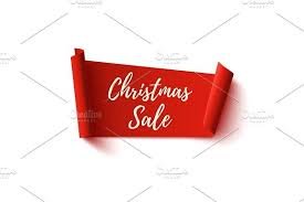 ribbon sale christmas sale banner abstract ribbon on white objects