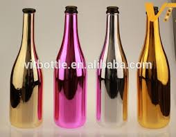 silver wine bottles electroplated silver bottle chrome bottle silver spray bottle