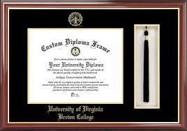 uva diploma frame of virginia brown college diploma frames certificate