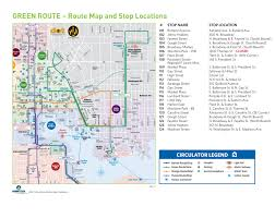 Metro Bus Routes Map by Route Maps Charm City Circulator