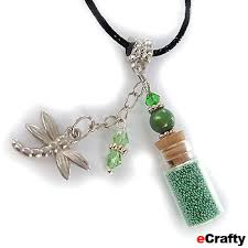 charm necklace with beads images Beads wholesale and jewelry making supplies mini glass vial jpg