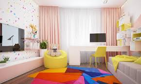 Kids Bedroom Rugs Girls Stylish Colorful Kids Bedroom Design For Girls With Nice Colorful
