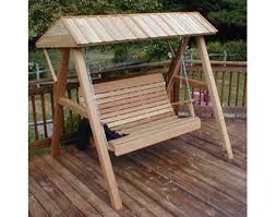 Swings For Patios With Canopy Red Cedar Swing Stand