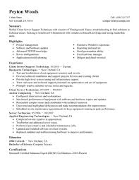 Best Information Technology Resume Templates by Best Client Server Technician Resume Example Livecareer