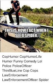 Funny Spider Meme - this ishowi act when see a spider cophumor cophumorlife humor