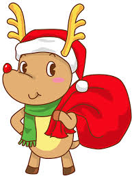 cartoon beer no background christmas rudolph with santa hat transparent png clip art image
