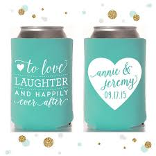 wedding can koozies wedding favors guests will actually use lydi out loud