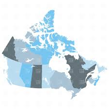 map of the provinces of canada map of provinces canada royalty free vector clip image 1719