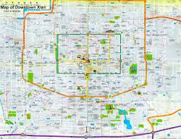 maps of maps of xian china attractions city layout subway