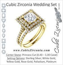 princess cut cubic zirconia wedding sets cubic zirconia wedding sets cz bridal sets cubic zirconia cz