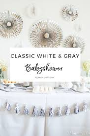 neutral baby shower decorations classic gender neutral white gray baby shower diary