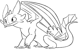 toothless dragon coloring pages funycoloring