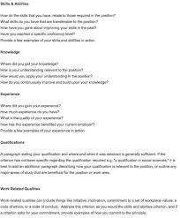 sample cover letter addressing selection criteria