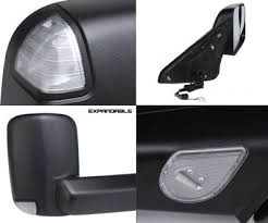 towing mirrors for dodge ram 3500 dodge ram 3500 2010 2012 towing mirrors power heated led signal