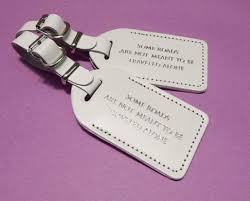 luggage tags wedding favors leather luggage tag wedding favor the quote some roads are