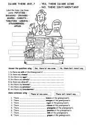 Countable And Uncountable Some Any Exercises Pdf Esl Worksheets There Is Are Some Any