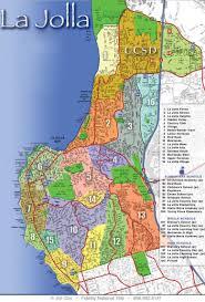 San Diego Neighborhood Map by La Jolla California Map California Map