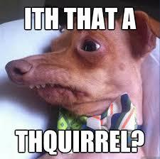 Lisp Meme - ith that a thquirrel lisp dog quickmeme