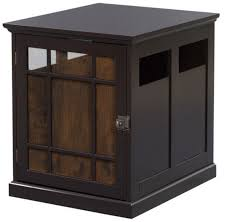 dog crate kennel wooden pet cage indoor wood house end table