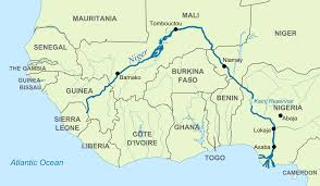 Physical Map Of South America Rivers by Niger River Wikipedia