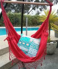 furniture brazilian hammock chair with purple fabric hammock and