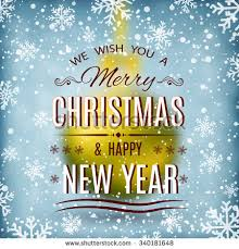 merry christmas happy new year text stock vector 331346309