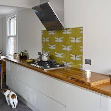 wallpaper in kitchen ideas diy splashback backsplash with wallpaper hometalk
