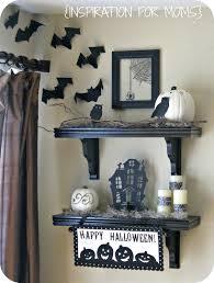 halloween black and white shelves inspiration for moms