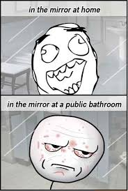 Public Bathroom Meme - what the hell is wrong with me