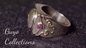 matrix opal ring matrix opal ring silver gold and rubies by guy guyogallery youtube