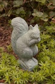 indoor outdoor garden squirrel statue w walnut new weather proof