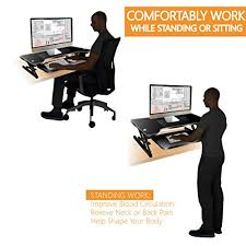 adjustable height desk riser costech wide stand up computer