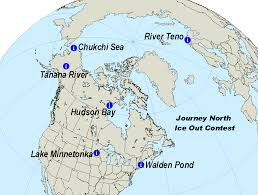 Tanana Alaska Map by Journey North Ice Out