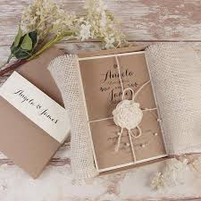 wedding invitations box delicate flower rustic wedding day invitation box with twine and