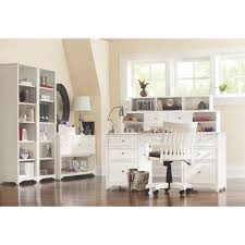 cottage white bookcases home office furniture the home depot