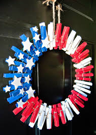 4th of july wreaths 4th of july clothespin wreath