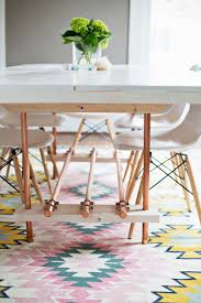 Copper Dining Room Tables Diy Dining Room Table With Copper Legs A Beautiful Mess
