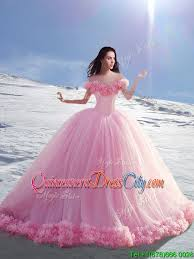 beautiful quinceanera dresses 2016 beautiful the shoulder cap sleeves tulle quinceanera