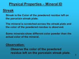 mineral identification lab ppt