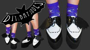 diy bat shoes this is halloween youtube