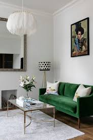 london olive green sofa living room contemporary with floor lamps