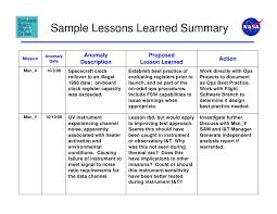 lessons learned document template eliolera com