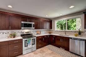 espresso kitchen cabinets with white quartz countertops espresso shaker maple pius kitchen bath