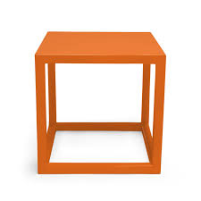 Orange Side Table Jonathan Adler Orange Lacquer Cube Side Table Look For Less