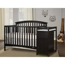 Black 4 In 1 Convertible Crib On Me Niko 4 In 1 Convertible Crib With Changer Black