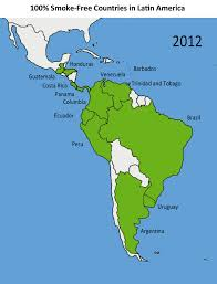 Columbia Map South America by Chile Joins Growing Movement Against Tobacco In Latin America
