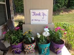 flower pot favors bridal shower diy fabric wrapped flower pot favors gold and bloom